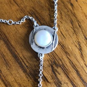 """Lucky Brand Jewelry - Lucky Brand long """"Y"""" necklace silver/white"""